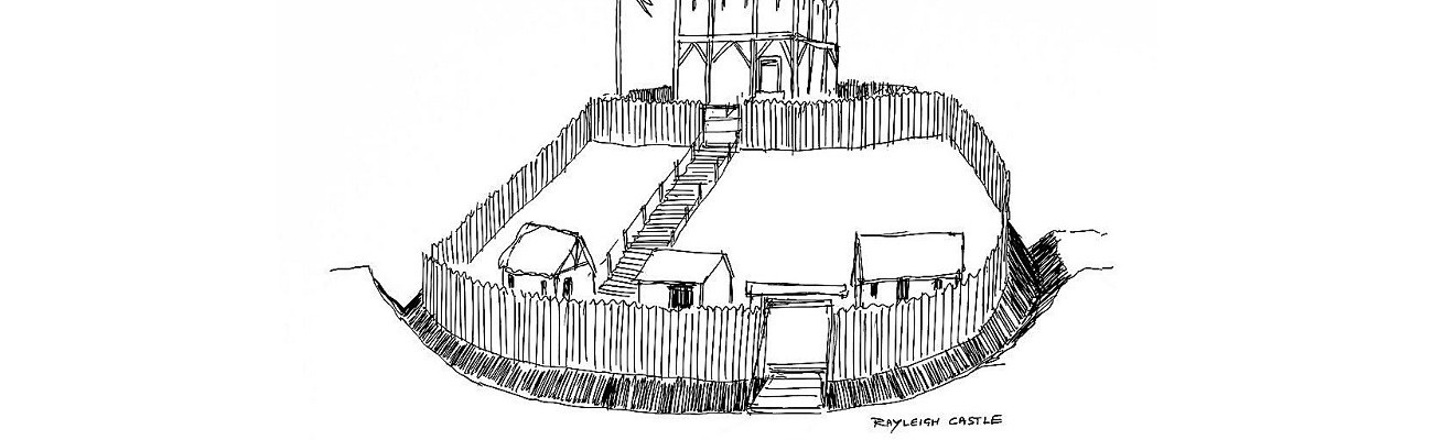 Rayleigh Castle - sketch by Graham Larwood